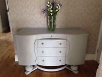 Upcycled wooden sideboard