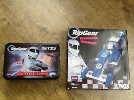 TOP GEAR JIGSAW THE STIG WITH 500 PIECES ( NEW IN TIN ) & KNEX TOP GEAR STIG RACING CAR AGE 7+