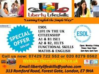 LIBERTY LIFESKILLS, ENGLISH TEST CLASSES: ESOL, B1 ISE1, LIFE IN THE UK, VISAS !!