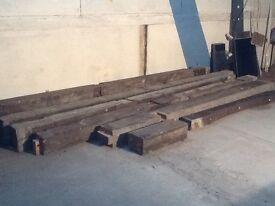 Pitch pine beams