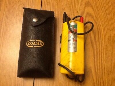 Ideal Sycamore Springs Illinos Voltagecontinuity Tester With Case Vintage