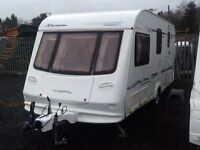 2003 elddis Rivera 4 berth end changing room fitted mover awning & extras