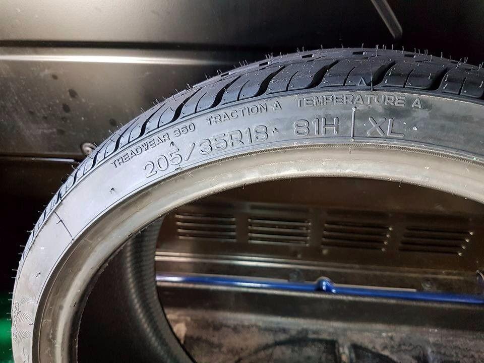 tyres 205 35 18 new condition nankang in restalrig. Black Bedroom Furniture Sets. Home Design Ideas