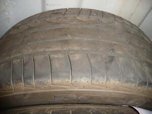2 pneus d'été, Bridgestone, Potenza RE050 Run flat, 225/50/16, 50% d'usure, mesure 6/32.