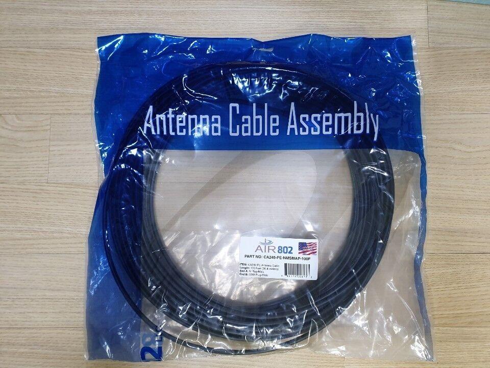 Air802 CA240 PE Antenna Cable 100feet N Plug SMA Plug LMR-24