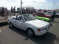 Ford Escort XR3i Convertable. Only 49,000 Miles