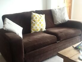 Brown Fabric 3 Seater Sofa by NEXT