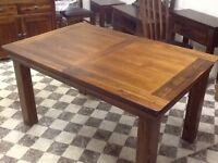 SOLID ACACIA WOOD EXTENDING TABLE