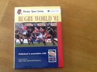 Rugby World '02 Book signed by David Duckham