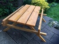 Picnic Bench Heavy Duty Hand Made 1.5m/5ft