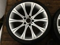 "Alloys 19"" wheels bmw 5 series may fit Audi and VW"