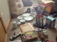 Great selection of carboot items , toys, clothes , dinner set , games