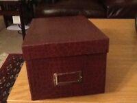 5 Photo Albums in storage box