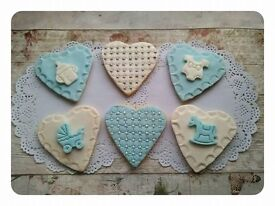 Baby Shower Biscuits, Party Food, Christening Food, Baby Boy, Washington. Baby Gift.