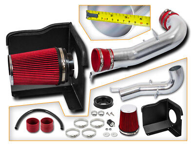 BCP RED 2007 2008 Yukon/Tahoe 4.8/5.3L V8 Heat Shield Cold Air Intake + Filter for sale  La Puente