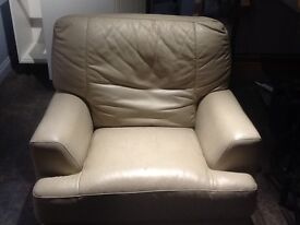Large Leather Manual Reclining Chair