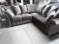 Wow XMAS SALE 50 OFF BRAND NEW CRUSH VELVET CORNER AND 3+2 SEATER SOFA (CASH ON DELIVERY)