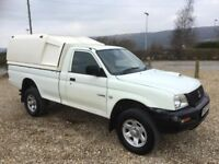 mitsubishi L200 2.5 diesel lwb 4x4 single cab pick up truck 2002 plate 94k and a june 2018 mot..
