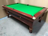 Slate Bed 7x4 Pub Pool Table. Free Local Delivery - New Recover & Accessories - Coin Op