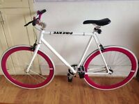 CREATE 59CM 2013 FIXED GEAR BIKE - SILVER/PINK/WHITE