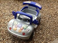 Childrens Beetle Style Rechargeable Car. Sit in and drive with forward, reverse and steering.