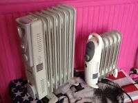 Two oil filled radiators. Buy cheap now before winter.