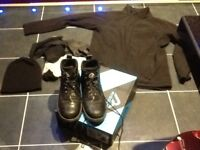 PPE/workwear,steel toe boots,s10,Reggata jacket,hi viz,hard hat,beenie,gloves,socks,£8,loc delivery