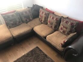 Corner sofa, 2 seater sofa and pouffe... SWAPS/OFFERS