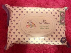 X9 packs of asda little angels wipes unopened
