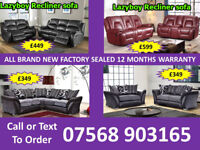 SOFA HOT OFFER BRAND NEW LEATHER RECLINER FAST DELIVERY 9