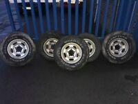 """**5 x 15"""" Daihatsu Sportrak Alloy Wheels - Off Road - Good Condition - 5x139.7**"""
