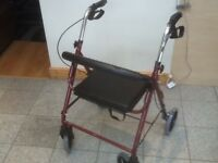 Mobility aide walker-ex showroom models-foldable,padded seats,brakes-a couple left -£30 for one