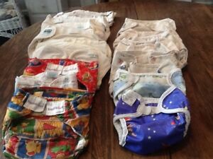 Fabric diapers and diaper covers