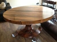 Victorian Rose Wood Breakfast Table