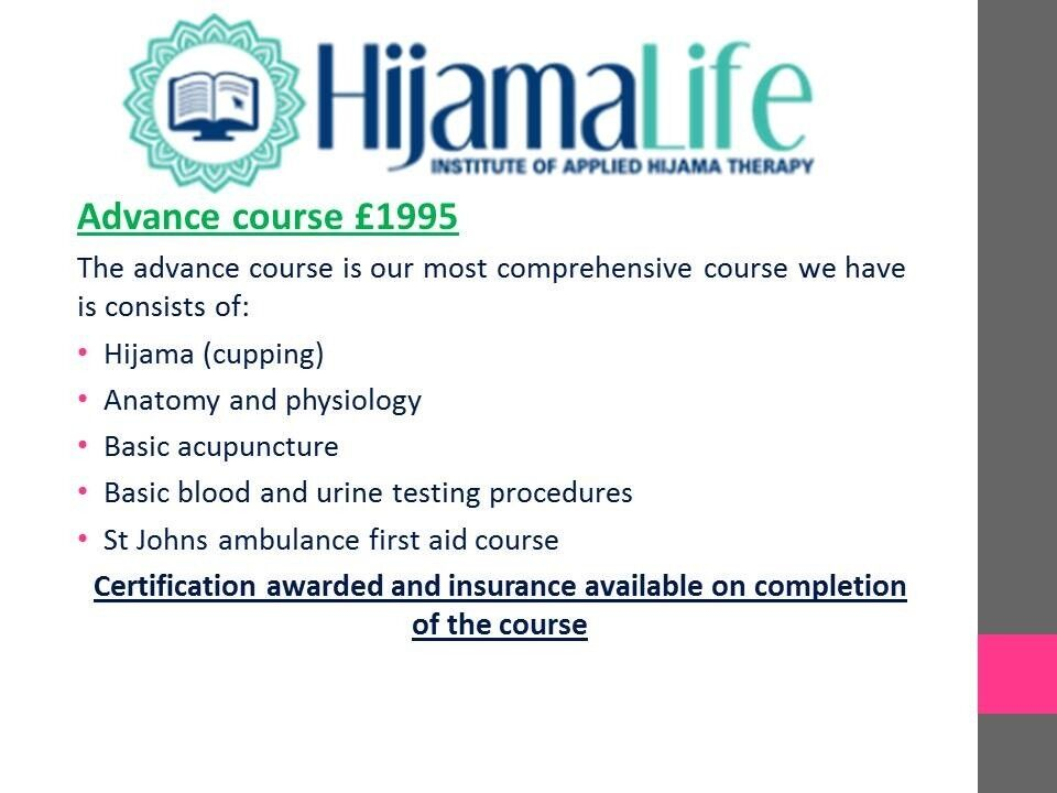 Learn Hijama 50 Online Home Or In Our Hospital Wet Cupping
