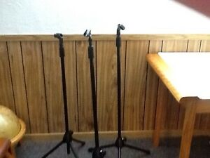 Professional Grade microphone stands  all three for $60