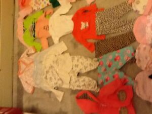 Newborn baby girl's clothes - 55+ items