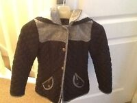 Girls Hooded Winter Coat Age 6-7