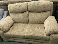 High retail fabric 2 seater sofa
