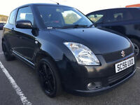 2007 56 SUZUKI SWIFT 1.5 VVTS GLX MOT 04/17 BLACK (CHEAP PART EX TO CLEAR)