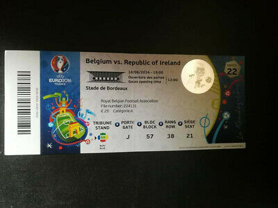 TICKET EURO 2016 : IRLANDE - BELGIQUE MATCH 22
