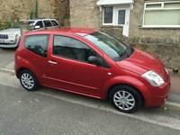 Red 2004 1.1 Citroen C2 -12 Months MOT - Cheap Insurance - Cheap Tax - Perfect First Car!