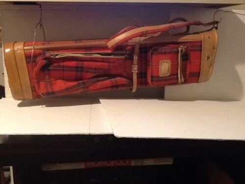Vintage Plaid Wilson Indestructo USA Sunday Golf  Carry Bag Plaid Fabric