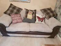 3 Seater Sofa & Cuddle Swivel Chair