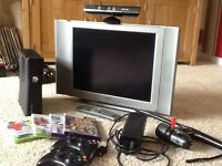 X Box 360 with Kinect 2 controls Tv and control