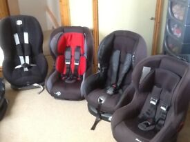 Car seats for 9mths to 4yrs(9kg-18kg child weight)-all recline,are washed and cleaned-£25 to £45each