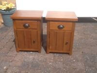 Pair bedside cupboards