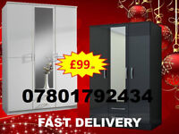 WARDROBES BRAND NEW ROBES TALLBOY WARDROBES FAST DELIVERY 24752