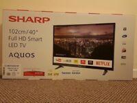 "Brand New Sharp Aquos 40"" Smart LED TV"