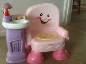 Fisher price musical & light up chair